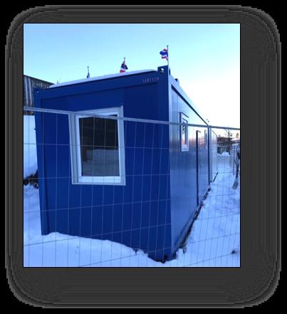 Container blå utsida