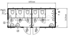 20 fot – WC - Herr – Dam – Art. 20320