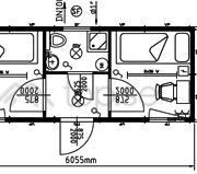 20-fots Sovbod : Kontorsbod : 2 separata rum : Förrum :  Dusch : WC : Art. 46520